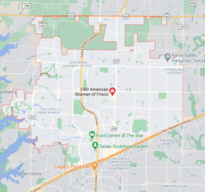 Map of Frisco